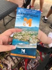 El mapa que nos dieron al bajar del crucero para conocer a la hermosa isla de Martinica.