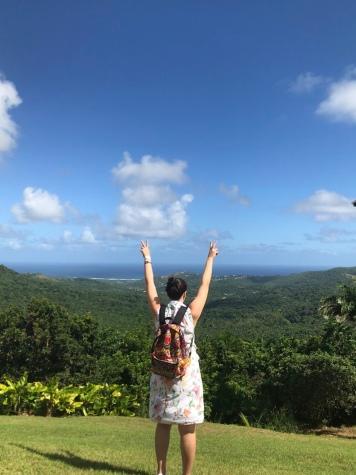 En el punto más alto de Barbados, Highland Adventure.