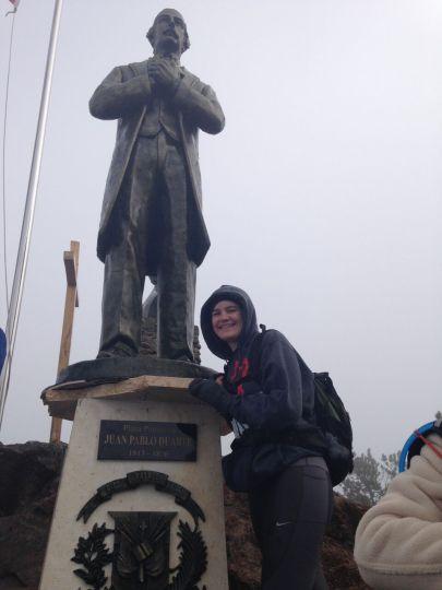 Con mi amigo Duarte, en el Pico Luxia 2016.